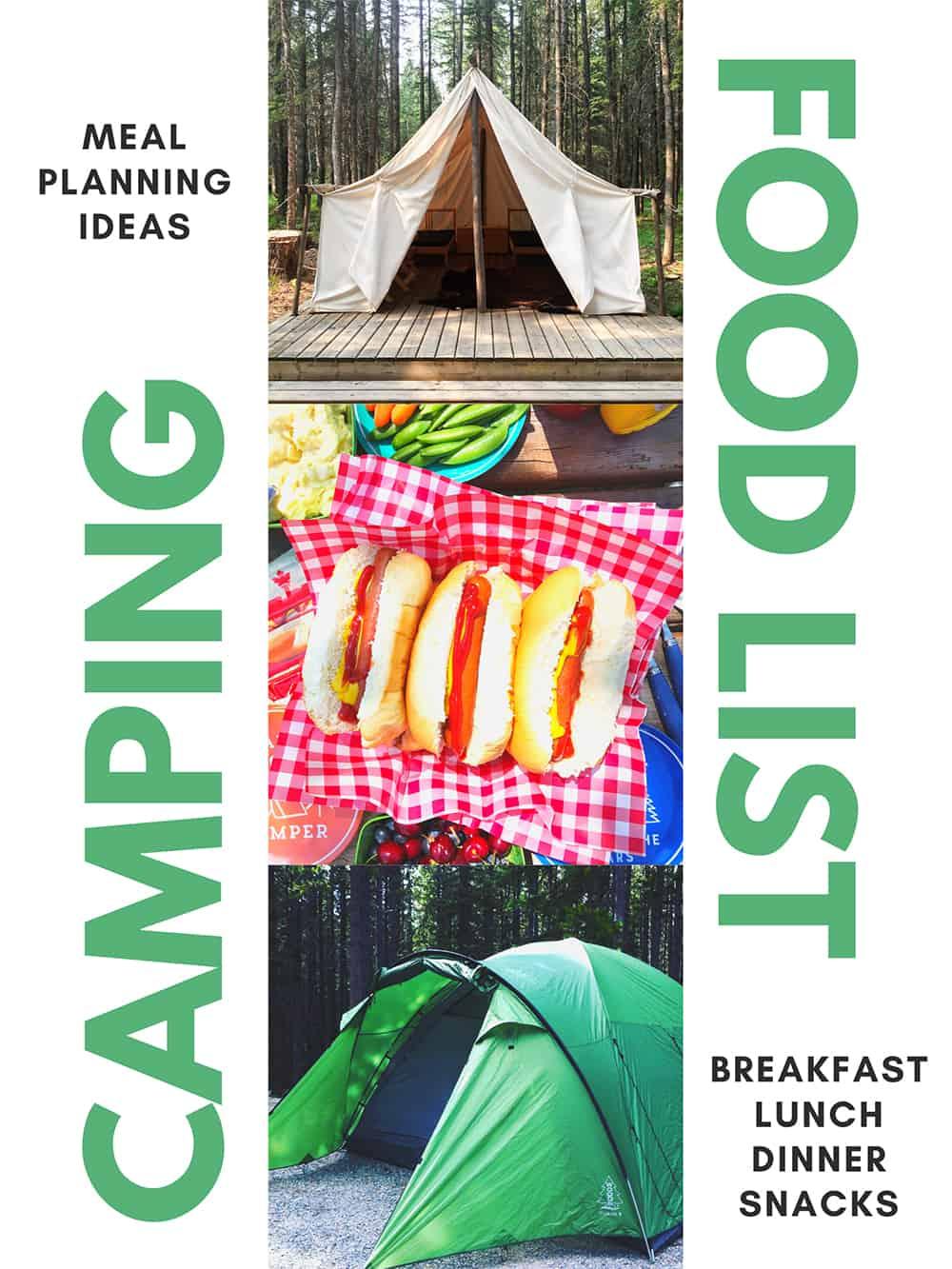Camping Food List