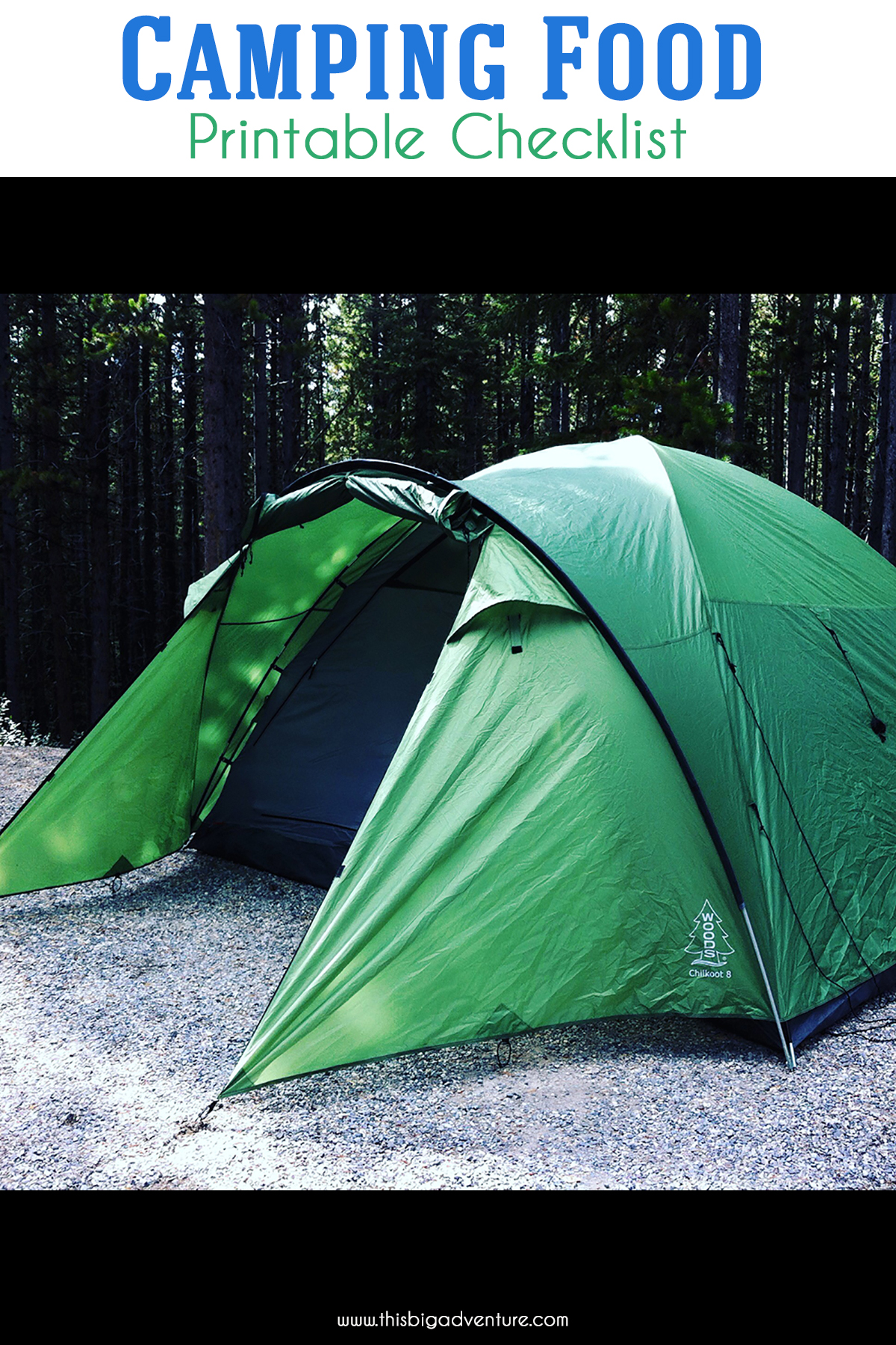 Camping Food Printable Checklist
