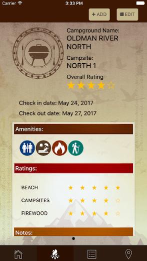 Camping Passport App