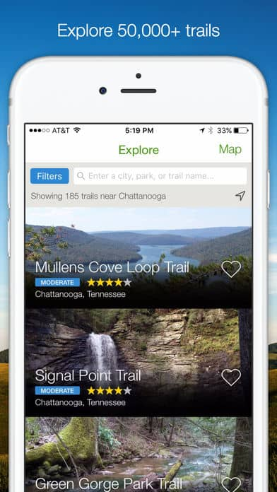 Best Camping Apps: AllTrails App