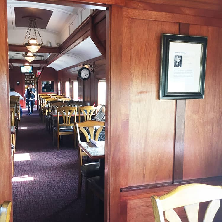 The 1887 Diefenbaker Dining Car Restaurant at Aspen Crossing