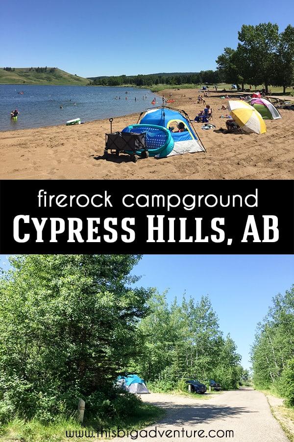 Firerock Campground in Cypress Hills Interprovincial Park