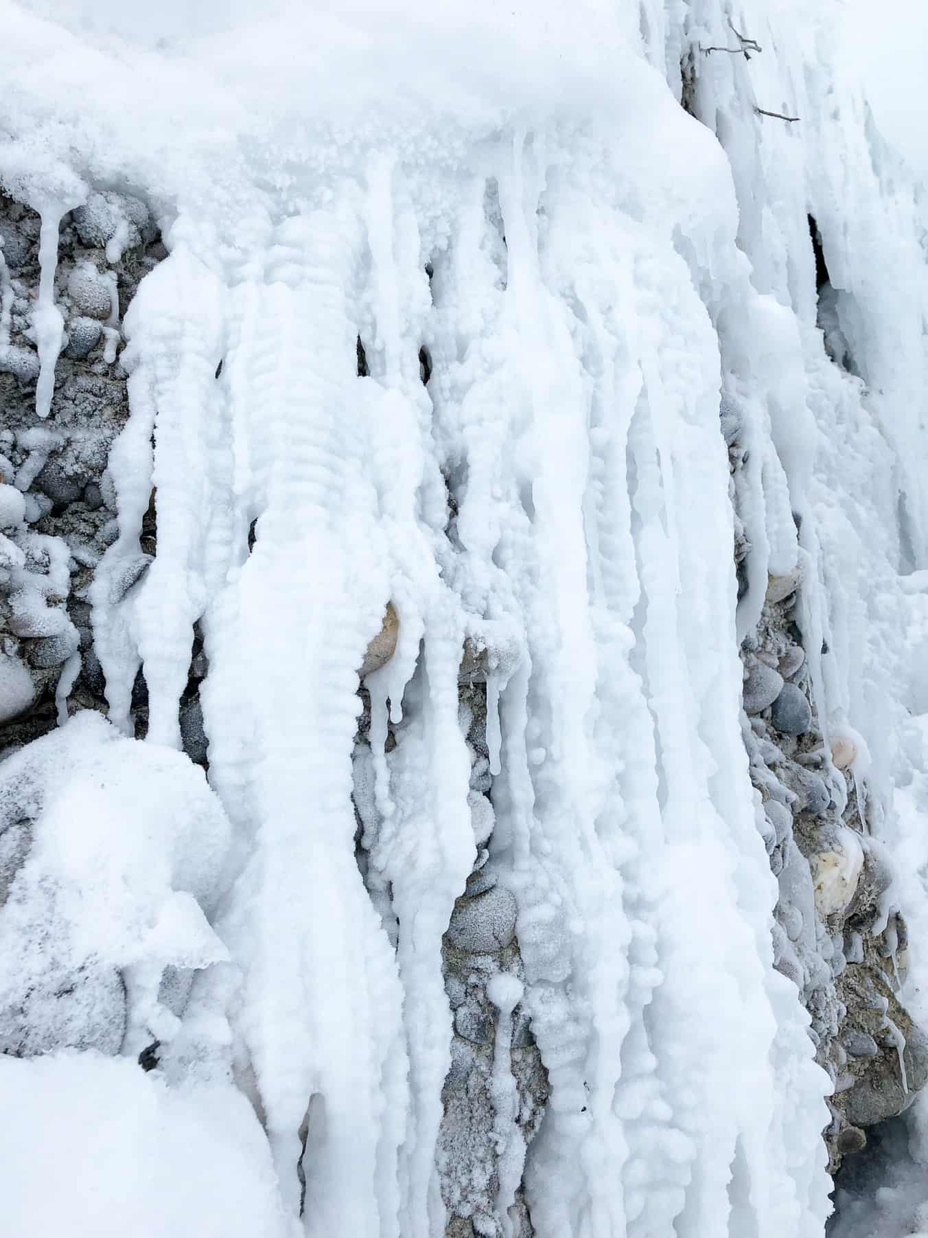 Ice Falls in Fish Creek Park